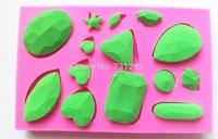 New Arrival!  Design 78  Various Diamonds Shape Silicone 3D Cake Fondant  Mold, Sugar Lace Mold,Cake Decoration Tool
