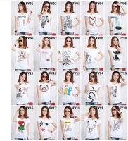 Free shipping  MIX ORDER  wholsale fashion New 2014 Fashion T Shirt Butterfly Shirt Women Tops T-shirts 10PC/LOT ,fy00