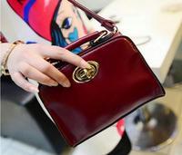 2014 mini lock bag vintage oil skin portable cute small bags women's handbag