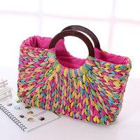 Capitales women's straw bag fashion handbag rustic handbag woven bag sweet beach bag rattan bag innumeracy