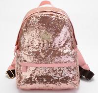 1 piece Hot Sell Women's Fashion crown Sequins Paillette Backpack Women Ladies Girls Leisure School Bag travel bag 4 colors