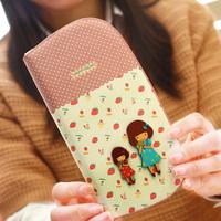 2014 women's wallet small fresh girl long design wallet mobile phone wallet