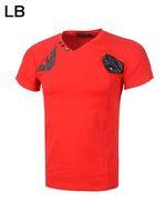2014 Men's Fashion brand Short Sleeve Cotton luxury t shirt, High Quality+Free Shipping, 4 Colors Size M-2XL