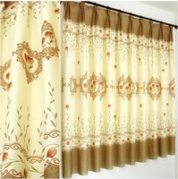 Free Shipping!Modern fashion high quality window screening curtain finished product window curtains With Blackout Lining Curtain