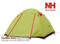 Naturehike NH 3 person double layer super light three season camping tent aluminum rod anti-storm Professional Series P3 2.1 kg