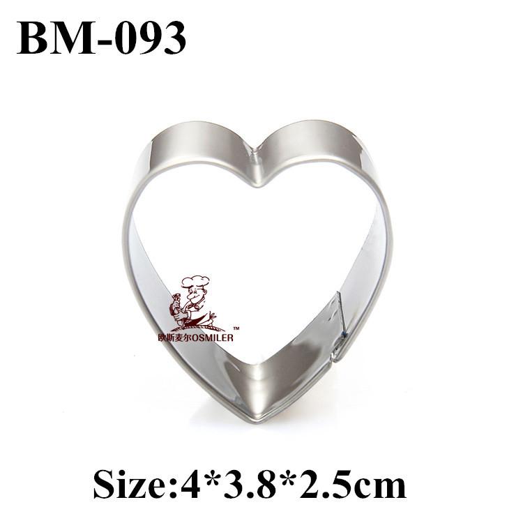 Atacado da forma do coração biscoito e molde do bolinho molde de aço inoxidável especialmente partido cortador de biscoitos de metal TBM-093(China (Mainland))
