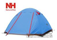 Naturehike NH 4  person double layer super light three season camping tent aluminum rod anti-storm Professional Series P4 2.5 kg