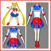 [ Custom Made ] Fashion Sailor Moon Cosplay Costume Tsukino Usagi 1st original version cos women clothes Dropshipping