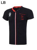 2014 Men italy Fashion brand Short Sleeve Cotton luxury stripe t shirt, High Quality+Free Shipping, 4 Colors Size M-2XL