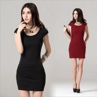 New !! 2014 Summer Women's Fashion Mini Dress Crew Neck Chiffon Sleeveless Causal Tunic Sundress Sizes S M L XL XXL freeshipping