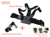 Camera Gopro Chest Mount Harness Holder with 3-way Adjustment Tripod Base accessories For G8800 G8900 Gopro Hero 3+ 3 2 1 GOTOP