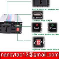 1000W 1000 WATT Boat Car Truck Power Inverter 12V DC to 220V AC 5V USB PORT