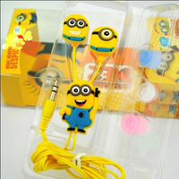 Stylish Despicable Me The Minion Pattern General 3.5mm In-ear Earphone for Various Mobile Phones Free dropshipping