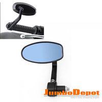 1 X Motorcycle Bike Bar End Rear Side Mirror Hot Fits for DUCATI 7/8\\\'\\\' Black