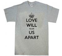 2014 New Love will tear apart us t-shirt joy division ian curtis screen printing