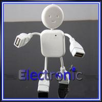 High Speed 4 Ports USB 2.0 Hub White Mini Man  lilliputian splitter USB HUB