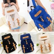 Fashion Cute Lady Girls Versatile Vintage Canvas Satchel Backpack Shoulder School Bag(China (Mainland))