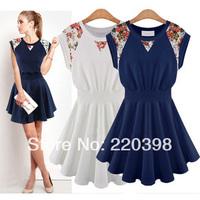 2014 new hot sale high quality women  sleeveless lace dress Slim Girl Dress 1157