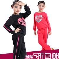 Autumn and winter nagle Latin dance clothes child Latin dance clothes fitness clothing aerobics clothing dance clothes set