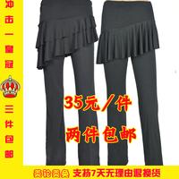 Adult Latin nagle Latin dance pants Latin clothes child Latin black skorts
