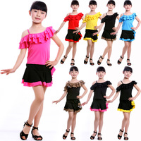 Child dance leotard Latin clothes set