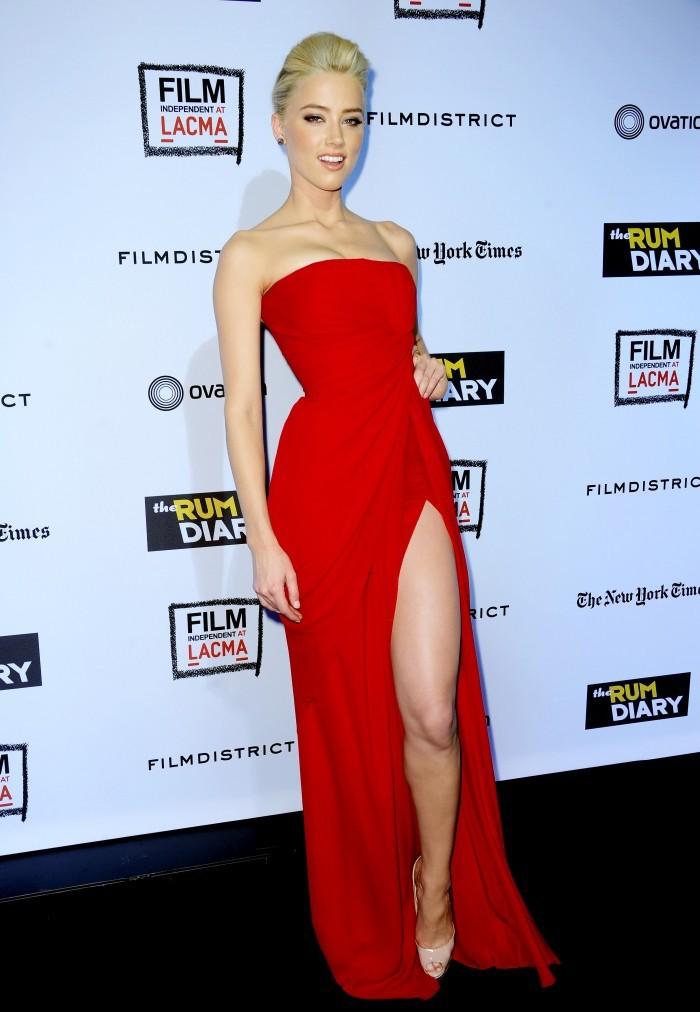 Red Strapless Dress Red Carpet Red Carpet Celebrity Dress