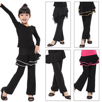 Female child adult Latin skorts Latin skirt pants Latin dance pants hypertensiveperson pants dance pants gymnastic pants