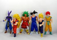 New Arrival  14CM Dragon Ball Z Action Figures 6PCS/Set  Japanese Cartoon Super Saiyan  PVC Toys Best Gift  Free Shipping