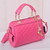 Women's handbag 2014 women's handbag sweet fresh color block one shoulder casual handbag plaid cross-body bag