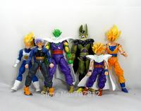 New Arrival 15CM DIY Dragon Ball Z Action Figures 6PCS/Set  Japanese Cartoon Super Saiyan  PVC Toys Best Gift  Free Shipping