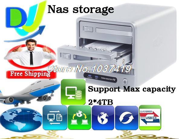 Сетевое хранение данных Terra master 2/USB 3.0 3.5' /II/III 8 RAID, BT/PT SMB FTP Us nas-2 standalone bittorrent bt client upnp usb nas ftp samba printer sharing network lan server