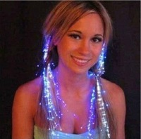 2014 New Flashing fiber optic wire braid hairpin light-up toy birthday flash lamp colorful bar toy