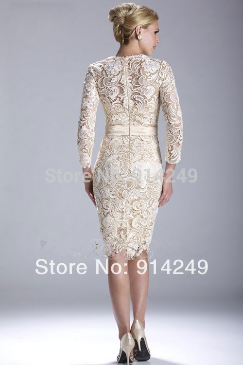 New Year 2014 Coctail Dresses elegant/grace High Collar Knee length ...