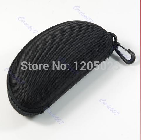 S103 New Arrival Black Glasses Eyeglasses Sunglass Zipper Hard Case keyring(China (Mainland))