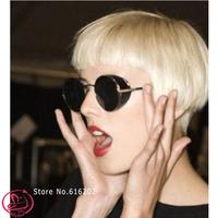 D-4228 New Arrival 2014 Fashion Vintage Round Brand design Sunglasses  woman Metal Frame Mirror Lens Love Retro Sunglasses