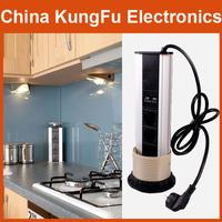 2014 new Aluminium Alloy Shell Tensile Type power Desktop Socket with LED Indicator POP Socket Kitchen Socket Free Shipping