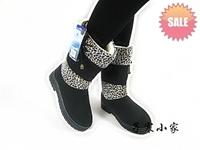 Leopard print mosaic women's warm shoes home shoes warm snow boots female boots warm shoes