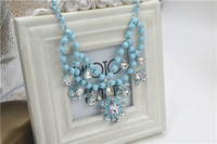 2014 spring and summer beautiful multi-layer drop necklace fashion necklace