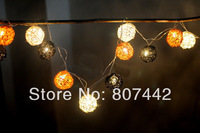 20 Balls/Set grey and white holiday lighting String Lights Christmas,Wedding,Halloween,gift, Free Shipping