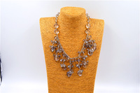 Fashion spring and summer female accessories full crystal necklace chain pendant