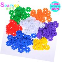 2014 new outdoor fun & sports, Snowflakes Medium 300 plastic building blocks assembling toys baby