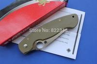 High quality Spyderco Orange G10 Military CPM-S30V Folding Knife Tactical knife C36GPOR Free shipping