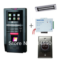 M-F131 TCP/IP fingerprint Access Controller +Magnetic Lock, Power Supply and Infrared Exit Button K1/ID