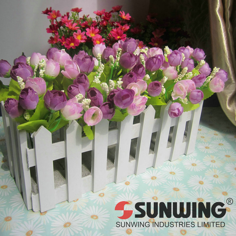 small plastic flower fence tea buds set rural simulation silk flowers artificial flowers home decoration free shipping-FH143004(China (Mainland))