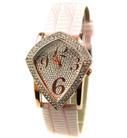 Women Rhinestone Watches Rhombus Shape leather strap watch Gifts for women