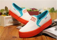 Free Shipping 2014 Hot selling sweet low upper plimsolls flange solid platform leisure SKID GRIP sneakers