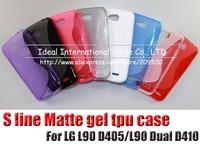 cell mobile phone case,For LG L90 D405/L90 Dual D410,20pcs/lot,s line gel tpu case,free shipping