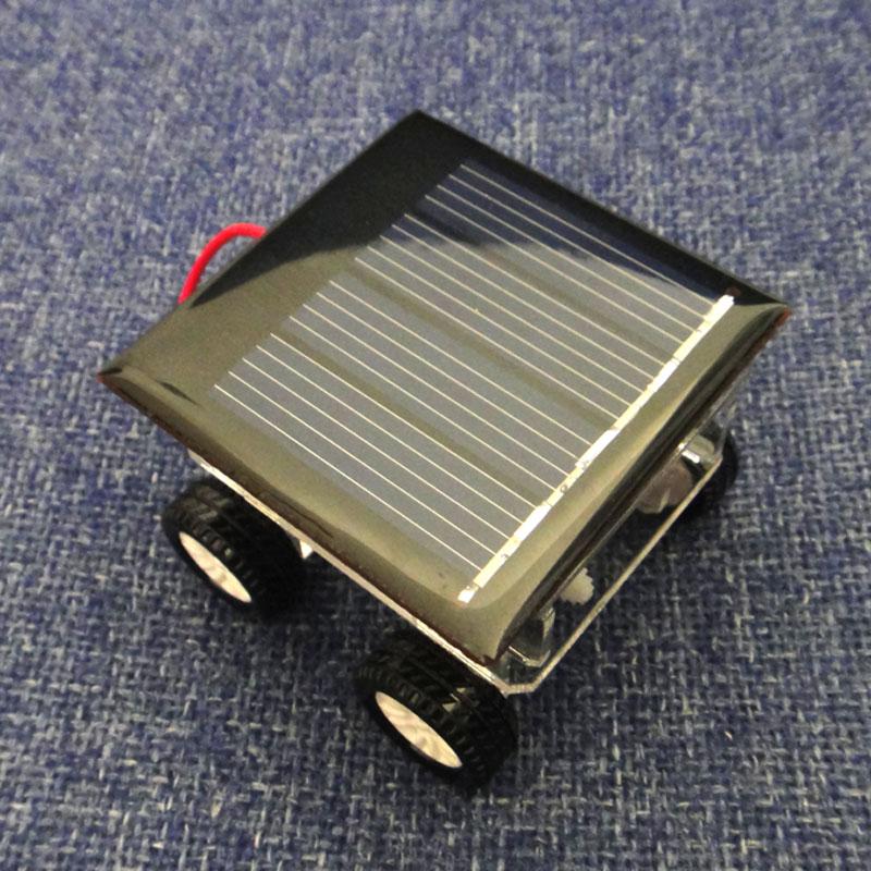 brinquedo do bebê, 2014 novo carro solar pequena produção bateria de tecnologia prato handmade diy modelo brinquedo na caixa(China (Mainland))
