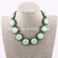 hot fashion modern statement turquoise necklace wholesale 884