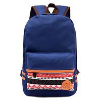 free shipping canvas women backpack shoulder bag school satchel large capacity 8808